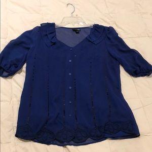 NEW   Sheer Blue Blouse
